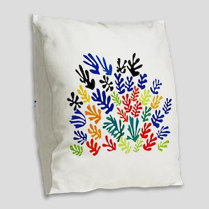 MATISSE LEAVES Burlap Throw Pillow