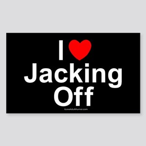 Jacking Off Sticker (Rectangle)