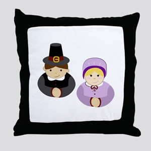 Pilgrims Throw Pillow