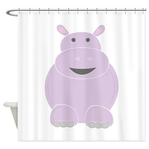 Funny Hippo Shower Curtains