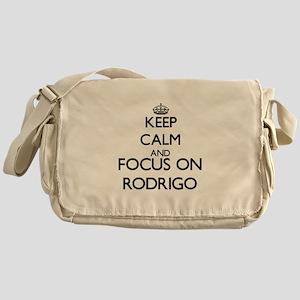 Keep Calm and Focus on Rodrigo Messenger Bag