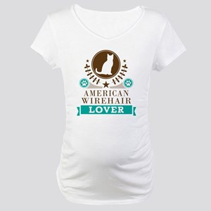 American Wirehair Cat Maternity T-Shirt