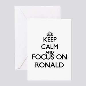 Keep Calm and Focus on Ronald Greeting Cards
