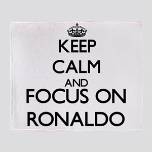 Keep Calm and Focus on Ronaldo Throw Blanket