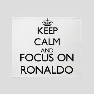 Keep Calm and Focus on Ronaldo Throw Blanket