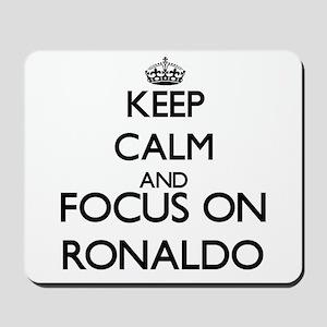 Keep Calm and Focus on Ronaldo Mousepad