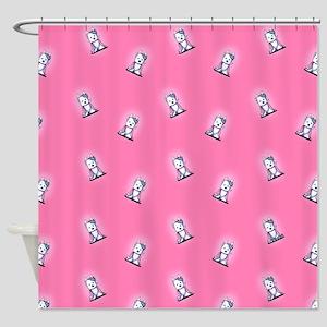 KiniArt Westie Princess Shower Curtain