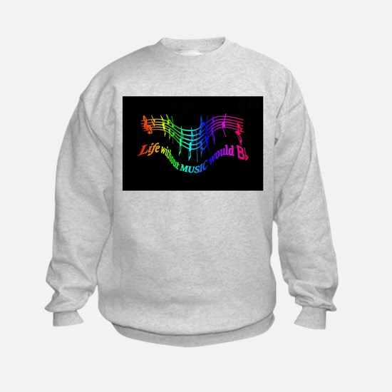 Life without Music would B flat Humor quote Jumper