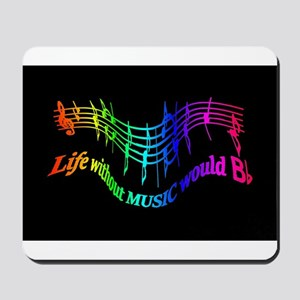 Life without Music would B flat Humor quote Mousep