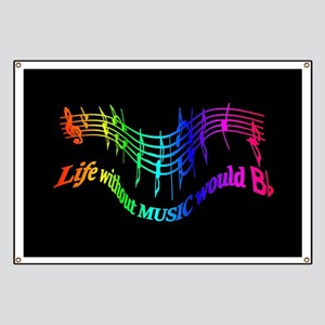Life without Music would B flat Humor quote Banner