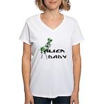Alien Baby Women's V-Neck T-Shirt