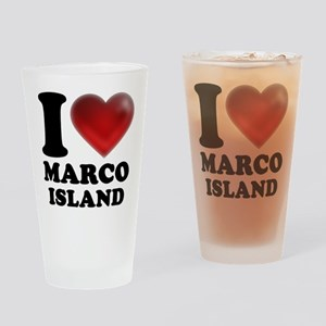 I Heart Marco Island Drinking Glass