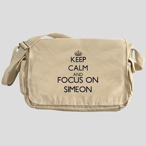 Keep Calm and Focus on Simeon Messenger Bag