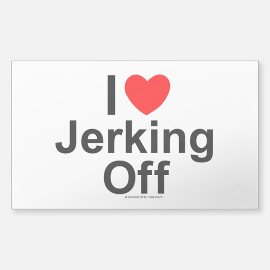 Jerking Off Sticker (Rectangle)