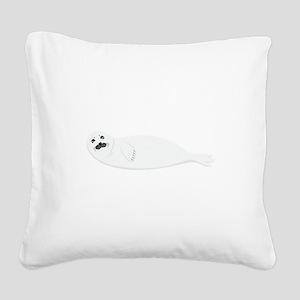 Arctic Seal Sea Lion Square Canvas Pillow