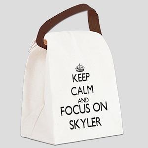 Keep Calm and Focus on Skyler Canvas Lunch Bag