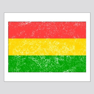 Distressed Bolivia Flag Posters