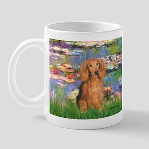 Lilies (2) & Doxie (LH-Sable) Mug