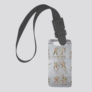 Longsword Positions Fiore dei Li Small Luggage Tag