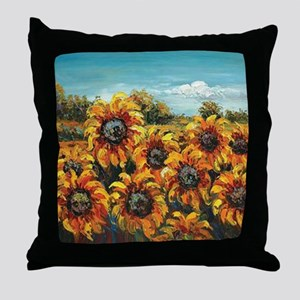 Country Sunflower Throw Pillow