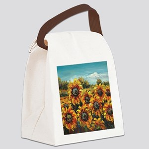 Country Sunflower Canvas Lunch Bag