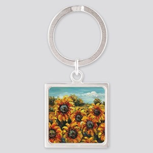 Country Sunflower Keychains