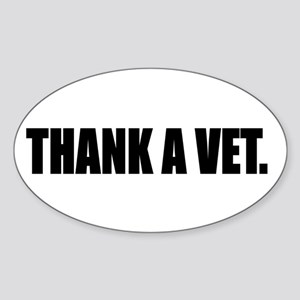 THANK A VET Sticker (Oval)