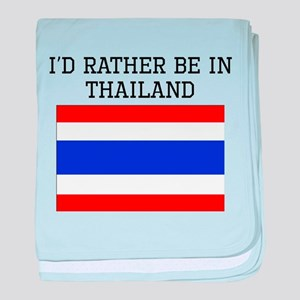 Id Rather Be In Thailand baby blanket
