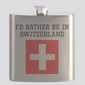 Id Rather Be In Switzerland Flask