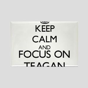 Keep Calm and Focus on Teagan Magnets