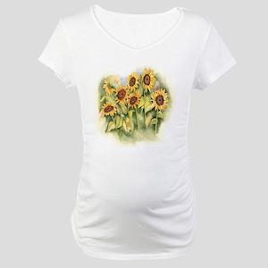 Field of Sunflower Maternity T-Shirt