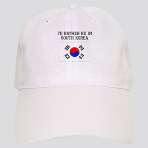 Id Rather Be In South Korea Baseball Cap