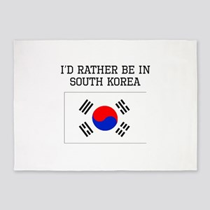 Id Rather Be In South Korea 5'x7'Area Rug