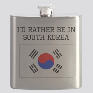 Id Rather Be In South Korea Flask