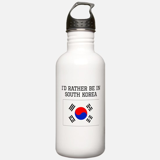 Id Rather Be In South Korea Water Bottle