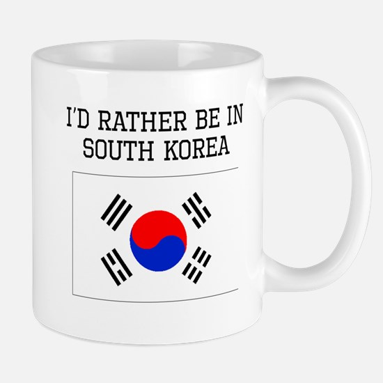 Id Rather Be In South Korea Mugs
