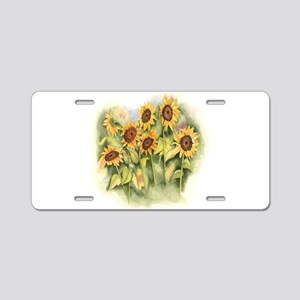 Field of Sunflower Aluminum License Plate