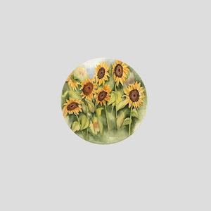 Field of Sunflower Mini Button