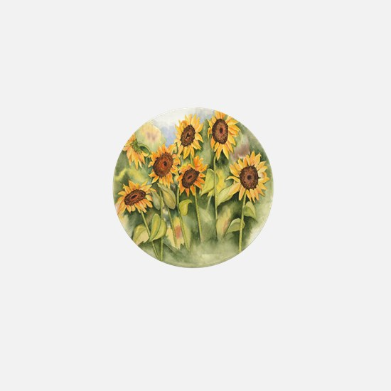 Field of Sunflower Mini Button