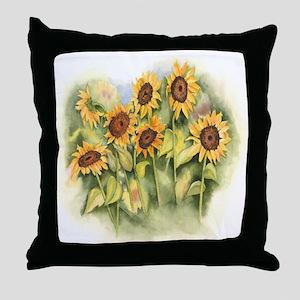 Field of Sunflower Throw Pillow