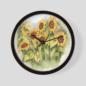 Field of Sunflower Wall Clock