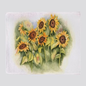 Field of Sunflower Throw Blanket