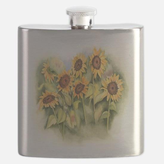 Field of Sunflower Flask