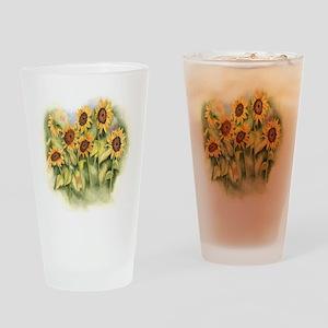 Field of Sunflower Drinking Glass