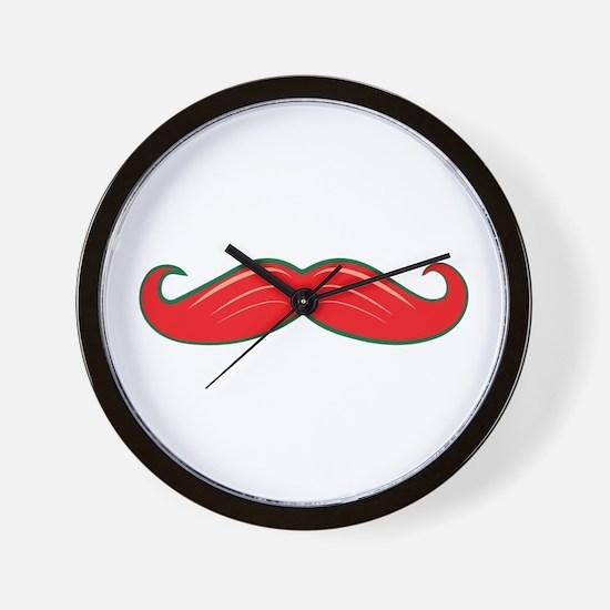 Moustache Wall Clock