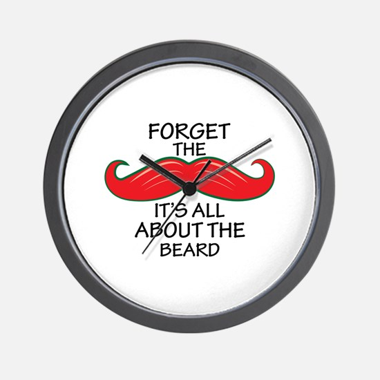 Forget The Mustache Wall Clock