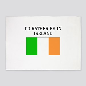 Id Rather Be In Ireland 5'x7'Area Rug