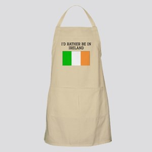 Id Rather Be In Ireland Apron