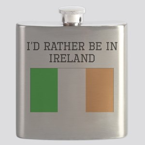 Id Rather Be In Ireland Flask