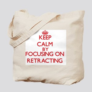 Keep Calm by focusing on Retracting Tote Bag